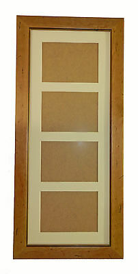 ANTIQUE PINE DISTRESSED WOOD PICTURE PHOTO FRAME Holds 4 - 7x5 Photos with GLASS