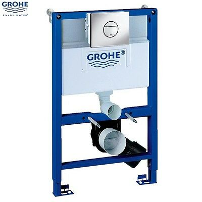 GROHE 38868 000 Rapid SL 3 in 1 WC Set incl. 0.82m Concealed Frame and Cistern