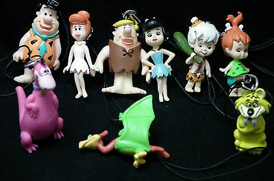 Flintstones Dangler Charm: Fred, Wilma, Barney, Betty, Bamm Bamm, Pebbles, Dino