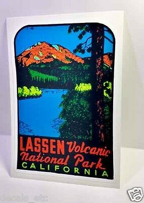 Lassen Volcanic National Park California Vintage Style Decal / Vinyl  Sticker