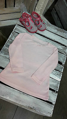 Girls Thermal Underwear Long Sleeve Vest Top In Light Pink Sizes  1,5 - 14 Years