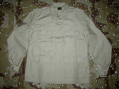 Bdu Jacket New L Desert Tan Khaki  Ripstop Mil Spec  Large