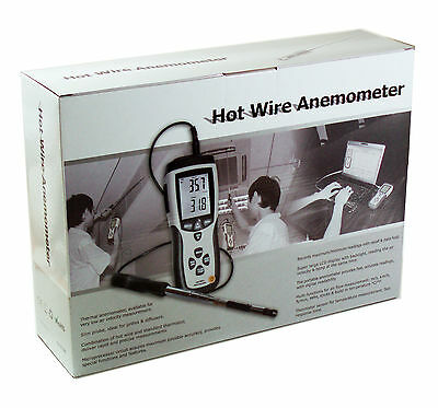 NEW DT-8880 Hot Wire Thermo-Anemometer Air Flow Velocity Meter Temperature USB