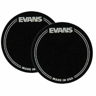 Evans EQPB1 Black Nylon Bass Drum Patch Twin Pack