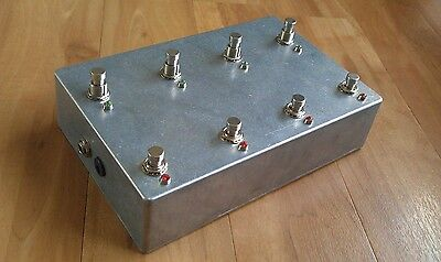 Programmable 7 Looper with Amp Channel Switch - Loop Pedal True Bypass Aluminium