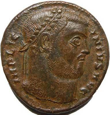 Licinius I 308 324 AD AE3 Wreath Roman Thessalonica VI