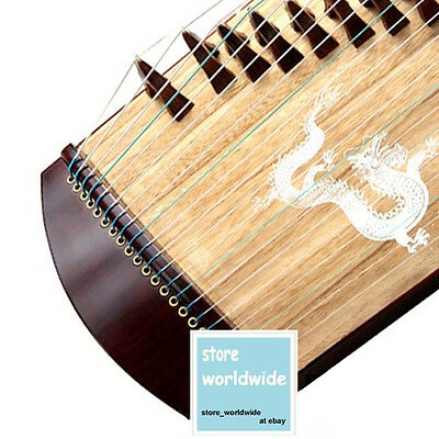 "21-String, 32"" Dragon Travel-Size Rosewood Guzheng, Chinese Zither Harp, Koto"