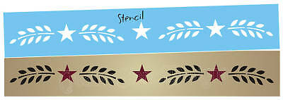 Folk Art STENCIL Easy Willow Vine Wheat Star Country Primitive Wall Border Signs