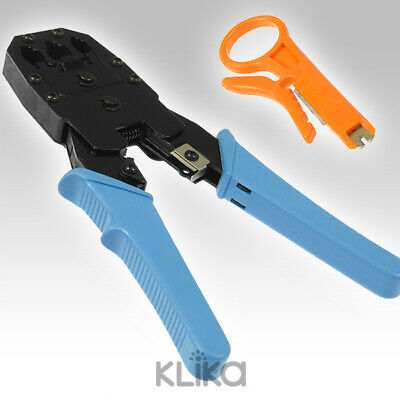 MODULAR CRIMPING TOOL PHONE LAN NETWORK RJ45 RJ12 RJ11 CABLE CRIMPER cat5 cat6