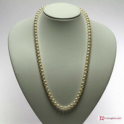 **MG** Collana Perle bianche TOP 7-7½mm L60 in Oro 18K