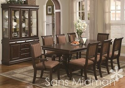 8 PIECE BORDEAUX Formal Dining Room Set Table 6 Chairs ...