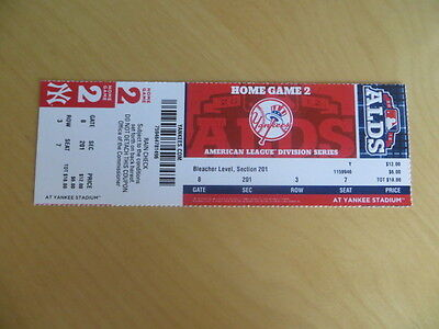 ORIOLES/YANKEES 2012 ALDS GAME 4 (NYY HOME GAME #2) ticket stub