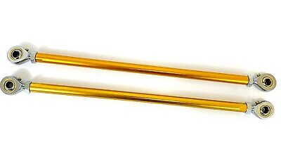GO KART A PAIR OF M8 x 225 ALLOY TRACK RODS & ROD ENDS  - TKM ROTAX
