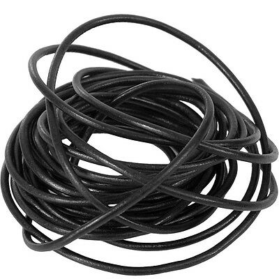 Leather Black 2mm Thong Thonging Necklace Cord Round Craft Bracelet New Genuine