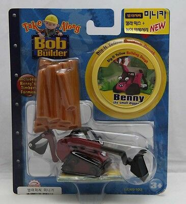 Bob The Builder Take Along Die-Cast 'Benny' with Building Dough + Timber Former