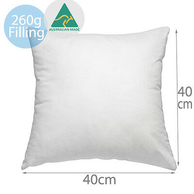 Aus Made New Cushion Inserts Polyester Fibre 40x40CM