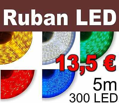 Ruban LED blanc, blanc chaud bleu, vert, rouge,300 LED 3528  60 LED/m  strip LED