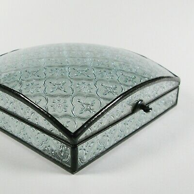 Glass jewelry box by 1178designs - Art deco style - square dome