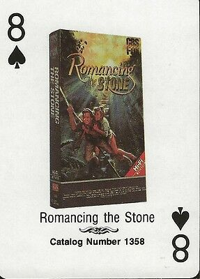 Romancing the Stone RARE 1988 CBS Fox Promotional Playing Card Michael Douglas