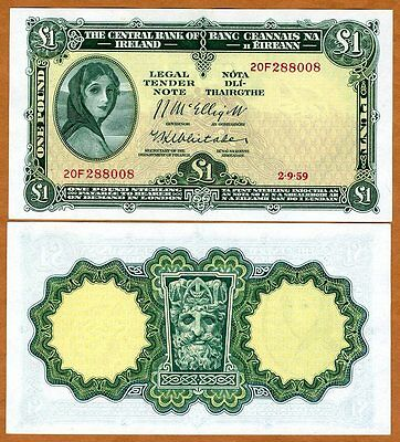 Ireland Republic, 1 pound, 1959, P-57 (57d), UNC