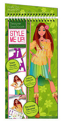 Style Me Up 623154 Zeichenblock Sketch Book(M)Hippy Chic Flower Power 40 Skizzen