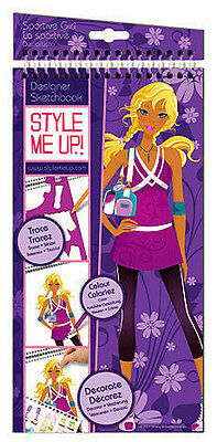 Style Me Up 623156 Zeichenblock Sketch Book (M) Sportive Girl Sport Kollektion