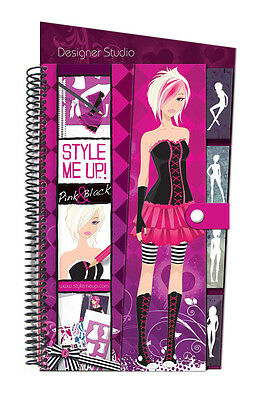 Style Me Up 623162 Zeichenblock Sketch Book (M) Pink & Black Modekollektion Rosa