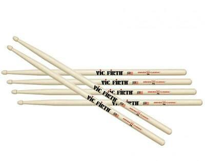 Vic Firth 7A Wood Tip Drum Sticks Three Pairs VF-7A