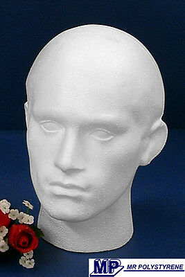 3 Polystyrene Male Mannequin Display Heads