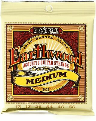 Ernie Ball Earthwood 2002 Acoustic Guitar Strings Medium 13-056