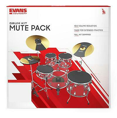 Evans SOSETSTD Drum Mute Silencer Soundoff Rock Pad Set