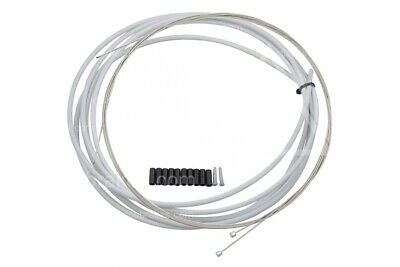 Full Derailleur Gear Cable Set in White for Mountain and Road Bikes, Front +Rear