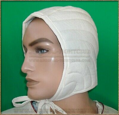 Heavy Duty Arming Cap with tie. Medieval Padded and Quilted Armour SCA WMA HEMA