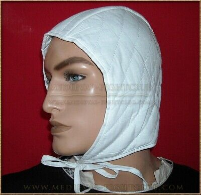 Quilted Arming Cap with tie. Medieval Helmet Padded Armour SCA WMA HEMA