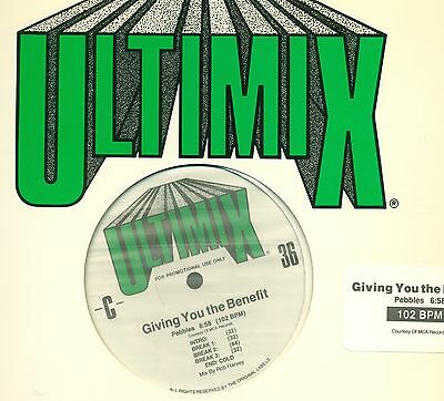 "Ultimix The Ultimate Mix 36 Pebbles The Def Syndicate 12"" Maxi (L9292)"