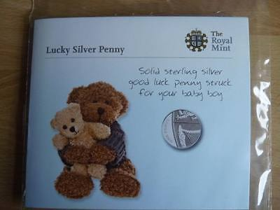Lucky Silver Penny Christening Baby Gift 2009 2010 2011 2012