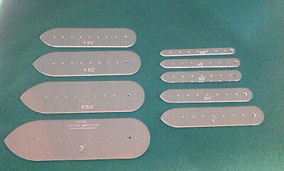 Classic English Point Strap Ends Template Set For Leather Craft  Laser Precision