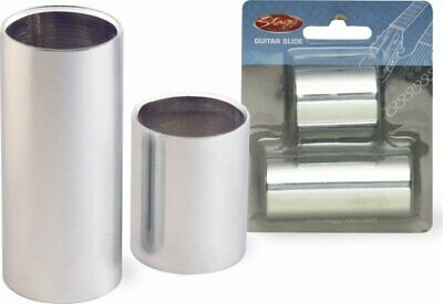 Stagg SGS-M Electric Or Acoustic Guitar Chrome Steel Slide Set Medium