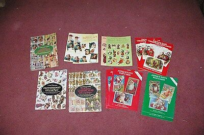 Large Lotl Victorian Postcards Wrapping Paper Christmas 1980's made Lots Variety