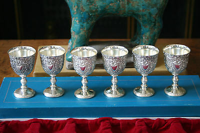 Set of Six Silver Plated Cordials/Liquoirs