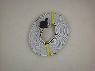 way trailer wiring connection kit flat wire extension 25 rv camper boat trailer 4 way flat plug wire harness