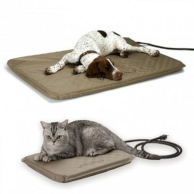K&H Lectro Soft Outdoor Indoor Heated Orthopedic Dog Bed KH1090 1080 1070 S M L