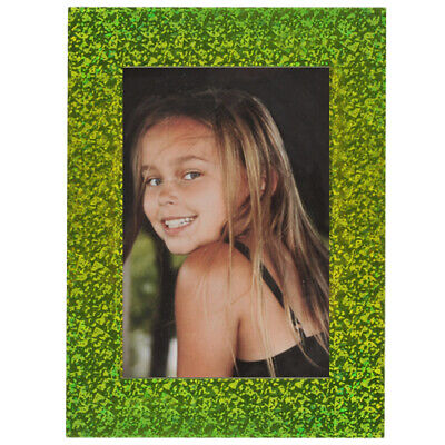PD Self-Adhesive Photo Picture Frame 4x6 Chrome Green