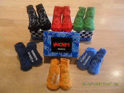 Disney Baby Mickey Mouse Socks 6 Pairs In Gift Box Boys Multi Colour Baby Gift