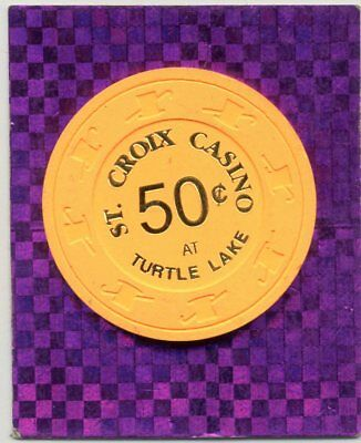 St. Croix 50 Cent  Wi.  Casino Chip Danbury Wi #1