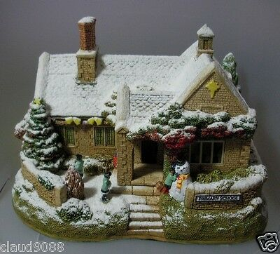 Lilliput Lane School's Out For Christmas-2012 Lted Illuminated L3404 Mint In Box