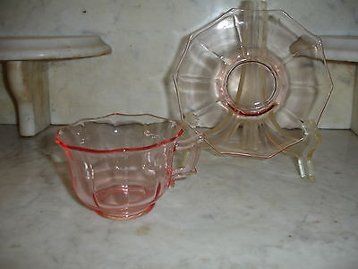 Cambridge Decagon Pink Cup and Saucer