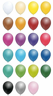 "12"" INCH STANDARD LATEX BALLOONS - ALL COLOURS - 10's, 25's, 50's or 100's"