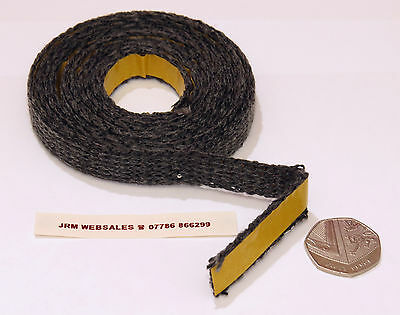 Stove Glass Sealing Tape - Black Fire Glass Rope - Black Flat Woven - Rope Seal