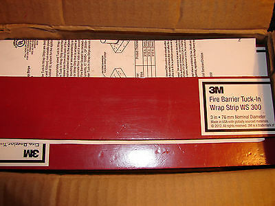 *NEW* 3M Fire Barrier Tuck-In Wrap Strip WS 300, (Qty-24)